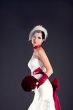 Mooie bruid met boeket Stock Afbeeldingen