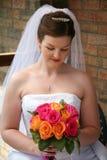 Mooie Bruid met Boeket Royalty-vrije Stock Afbeeldingen