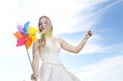 Mooie bruid openlucht Royalty-vrije Stock Afbeeldingen