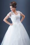 Mooie bruid in studio Royalty-vrije Stock Afbeeldingen
