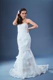 Mooie bruid in studio Stock Foto's