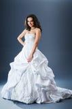 Mooie bruid in studio Royalty-vrije Stock Foto's