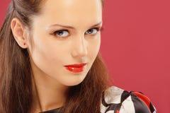 Mooie brunette Royalty-vrije Stock Foto's