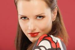 Mooie brunette Stock Foto