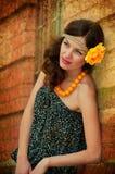 Mooie brunette. Stock Foto