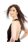 Mooie brunette in motie Royalty-vrije Stock Foto