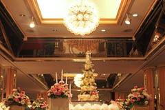 Mooie cake voor huwelijksontvangst Stock Foto's