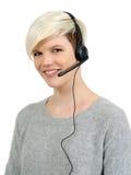 Mooie call centrevrouw Royalty-vrije Stock Fotografie