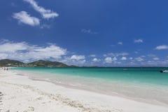 Mooie Caraïbische Stranden van Heilige Martin, Sint Maarten Cari stock foto's