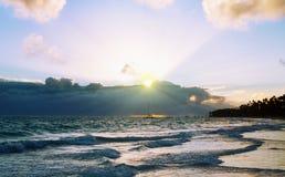 Mooie Caraïbische zonsopgang. stock fotografie