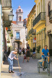 Mooie centrale voetstraat in Havana Royalty-vrije Stock Fotografie