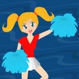 Mooie Cheerleader Stock Foto's