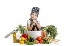 Mooie Chef-kok Stock Foto