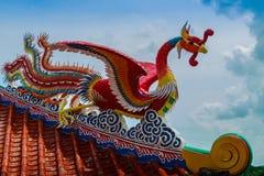 Mooie Chinese de stijlbeeldhouwwerken van ` s in Anek Kusala Sala Viharn Sien, Thais-Chinese tempel in Pattaya, Thailand Het werd Royalty-vrije Stock Fotografie