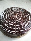 Mooie chocoladecake Royalty-vrije Stock Fotografie