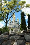Mooie christelijke kerk Stock Foto's
