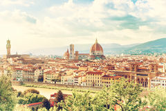 Mooie cityscape van Florence stock fotografie