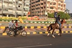 Mooie Cityscape in Visakhapatnam Stock Afbeeldingen