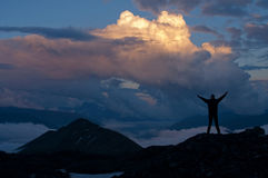 Mooie cloudscape in bergen Royalty-vrije Stock Fotografie