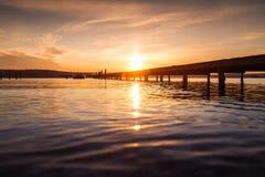 Mooie cloudscape over het overzees, zonsondergang Royalty-vrije Stock Fotografie