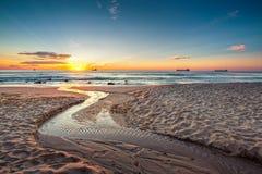 Mooie cloudscape over het overzees, zonsopgangschot Stock Fotografie