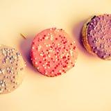 Mooie cupcakes in retro stijl Royalty-vrije Stock Afbeeldingen