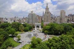 Mooie dag bij het Vierkant van de Unie, de Stad van New York Stock Afbeeldingen