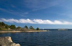 Mooie dag in de archipel. stock afbeeldingen