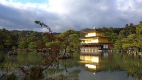 Mooie dalingskleur van Kinkaku -kinkaku-ji stock videobeelden