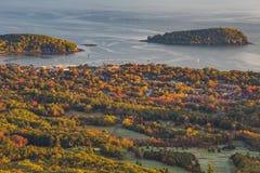 Mooie dalingskleuren van Acadia, Maine royalty-vrije stock foto's