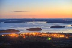 Mooie dalingskleuren van het Nationale Park van Acadia stock afbeelding