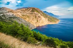 Mooie Dalmatische kust, Makarska Riviera Stock Foto