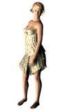 Mooie dame in 3d Royalty-vrije Stock Afbeeldingen
