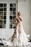 Mooie dame in luxekleding Royalty-vrije Stock Foto's