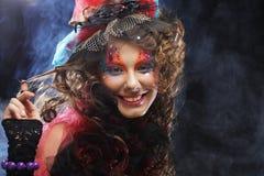 Mooie dame met artistieke samenstelling Doll stijl Royalty-vrije Stock Fotografie