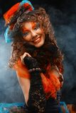 Mooie dame met artistieke samenstelling Doll stijl Royalty-vrije Stock Foto