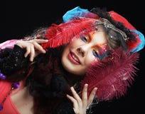 Mooie dame met artistieke samenstelling Doll stijl Royalty-vrije Stock Foto's