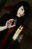 Mooie Dame Vampire Stock Foto