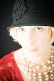 Mooie dameclose-up royalty-vrije stock fotografie