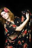 Mooie dansende vrouw Royalty-vrije Stock Afbeeldingen