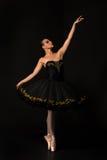 Mooie dansende vrouw Stock Foto