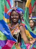 Mooie danser bij de Notting Heuvel Carnaval Stock Afbeeldingen