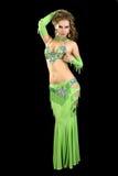 Mooie danser in oostelijk kostuum. Stock Afbeelding