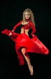 Mooie danser in oostelijk kostuum Royalty-vrije Stock Fotografie