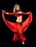 Mooie danser in oostelijk kostuum royalty-vrije stock foto's