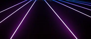 Mooie de bouwlichten in nacht, neon Stock Afbeeldingen