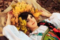 Mooie de herfstvrouwen Royalty-vrije Stock Fotografie