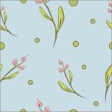 Mooie de lente bloemen naadloze achtergrond royalty-vrije illustratie