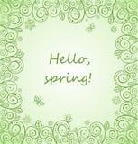Mooie de lente decoratieve kaart Stock Fotografie