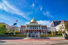 Mooie de lentedag bij het Gemeenschappelijke Park Massachusetts van Boston stock foto's